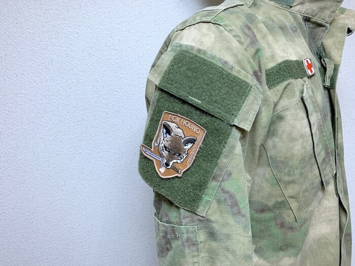 軍隊 戦闘服 ワッペンをつけたところ