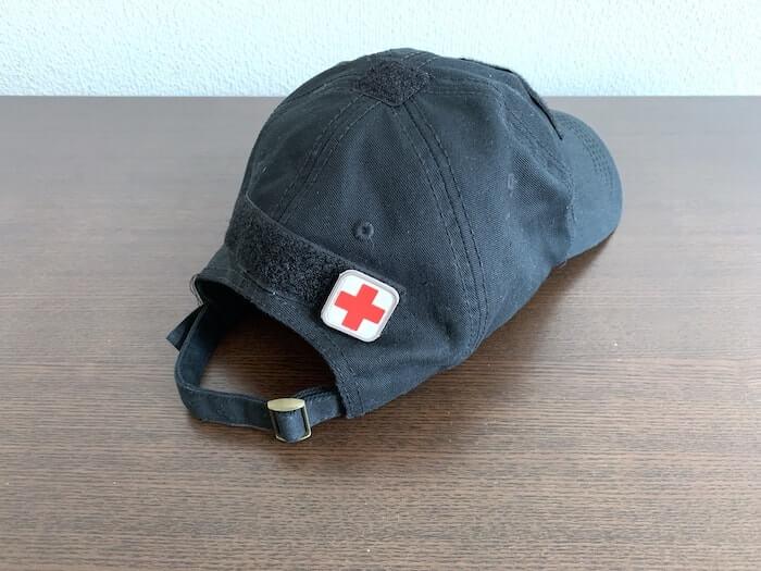 帽子 キャップ ベルクロワッペンをつけたところ