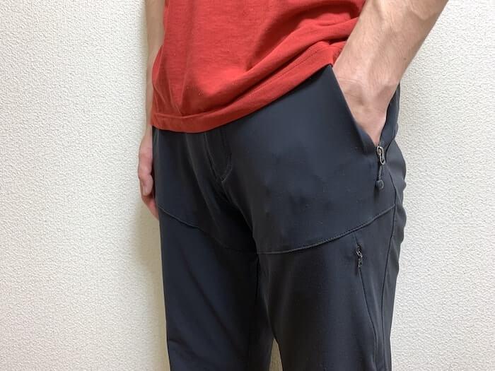 トレッキングパンツ ノースフェイス バーブパンツ 前面のポケット