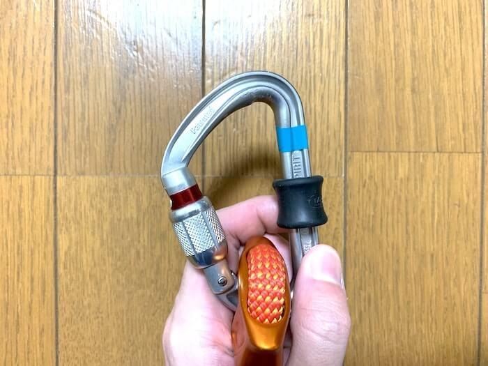ペツル コネクトアジャスト 安全環付きカラビナ セット