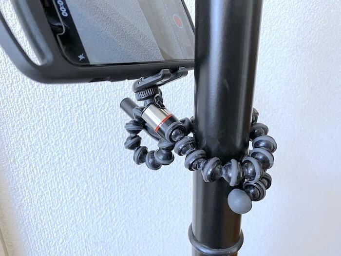 JOBY GripTight One GPスタンド 巻き付けて使用②