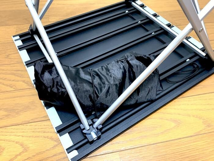 Linkax アルミ製アウトドアテーブル 小技 天板に収納袋を挟む