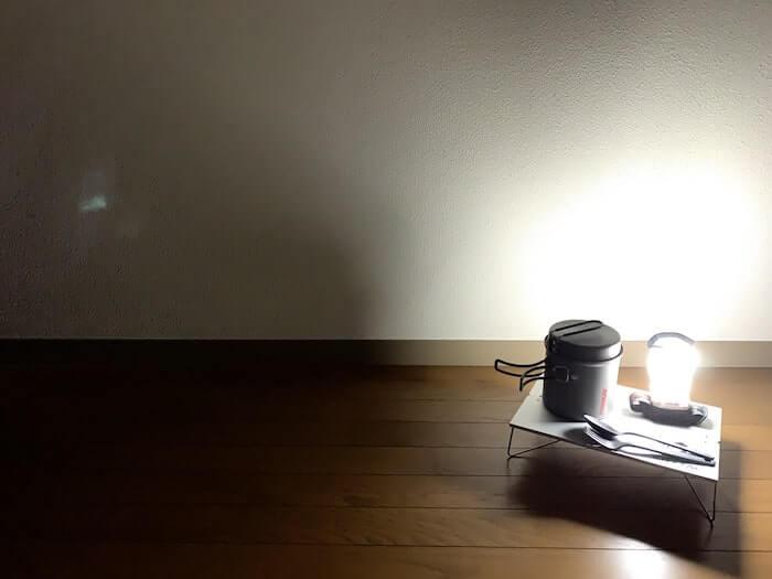 モンベル クラッシャブル ランタンシェード レビュー 光を和らげる