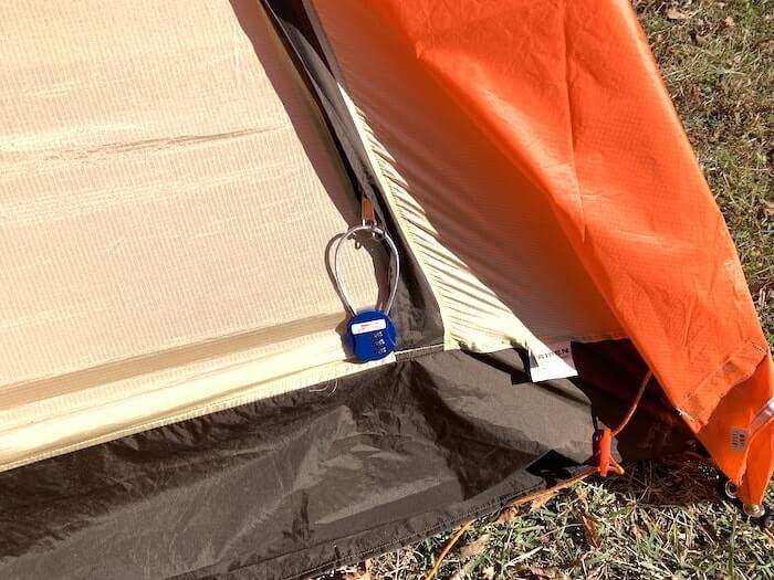 テント カスタム 鍵をつける