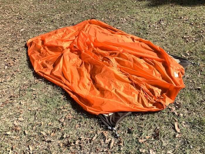 テント泊登山 初心者 小技 フライシートの取り扱い