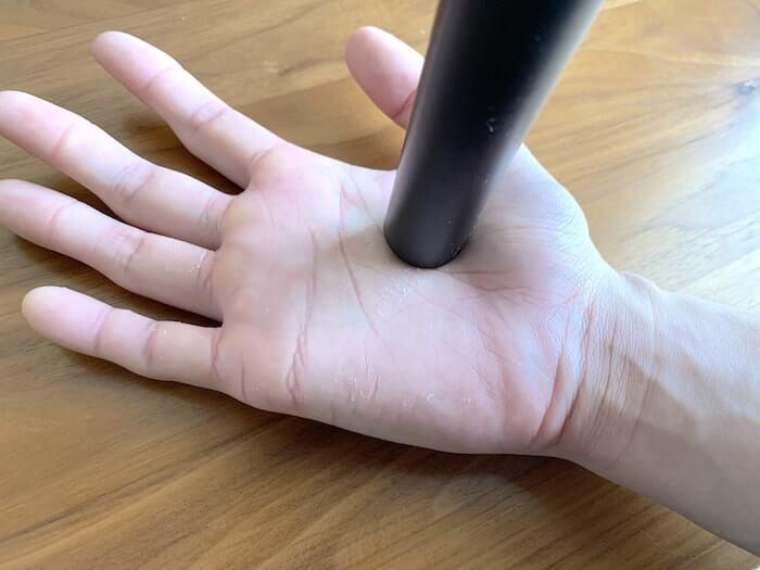 クライミング ボルダリング ボディケア用品 アテックス 指圧器 手に使ったところ