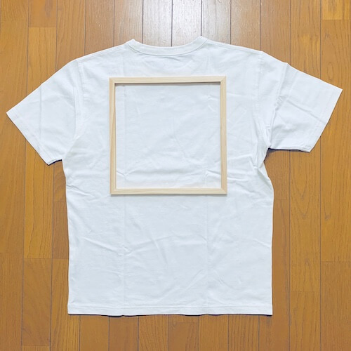 シルクスクリーン 自作Tシャツ 印刷範囲 ミドル