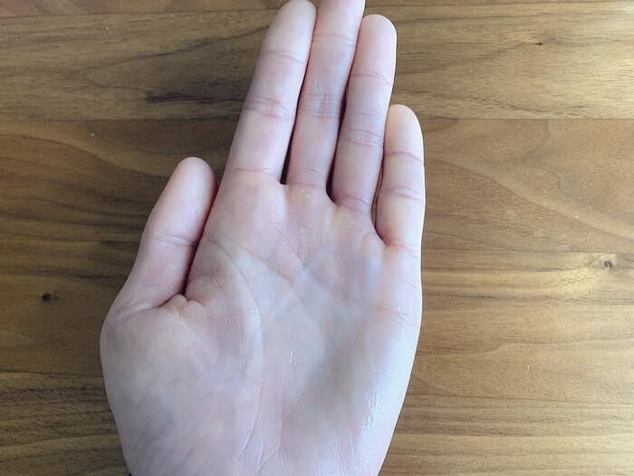 クライミング 指皮ケア 金の盃スキンケアゲル テクスチャ2