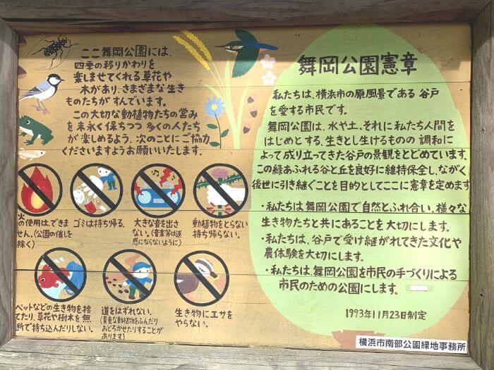 舞岡公園 看板2