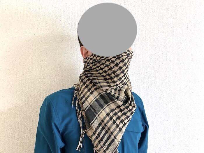 登山 シュマグ 簡易防塵マスク