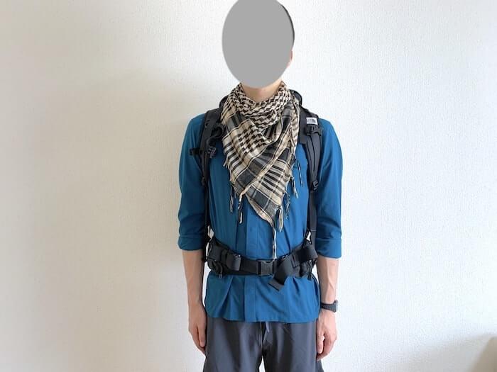 登山ファッション シュマグを追加
