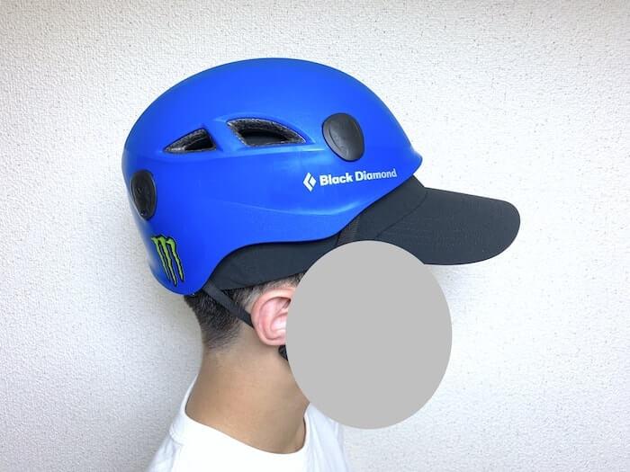ノースフェイス MAアクティブライトキャップ レビュー ヘルメットと併用2
