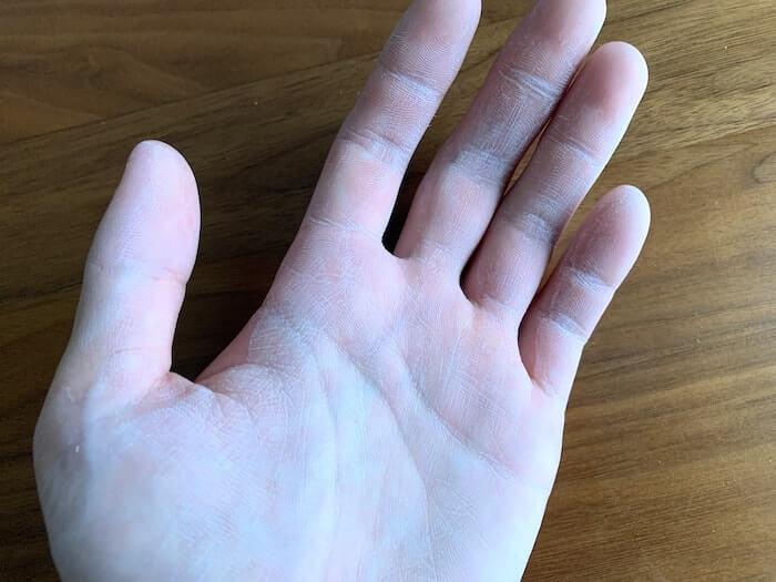 PD9 レビュー 塗布後の手