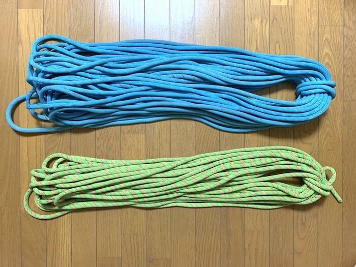 リードクライミングで必要な道具 ロープの長さについて
