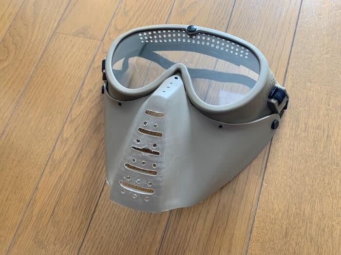 オススメのサバゲー装備 サンセイマスク クリアレンズ