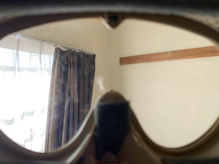 オススメのサバゲー装備 サンセイマスク 視界