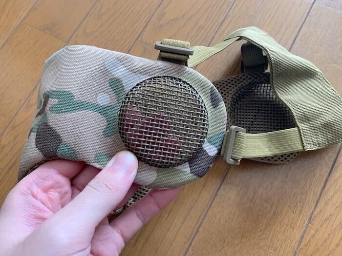 オススメのサバゲー装備 OneTigrisの耳保護付きメッシュフェイスガード 耳部