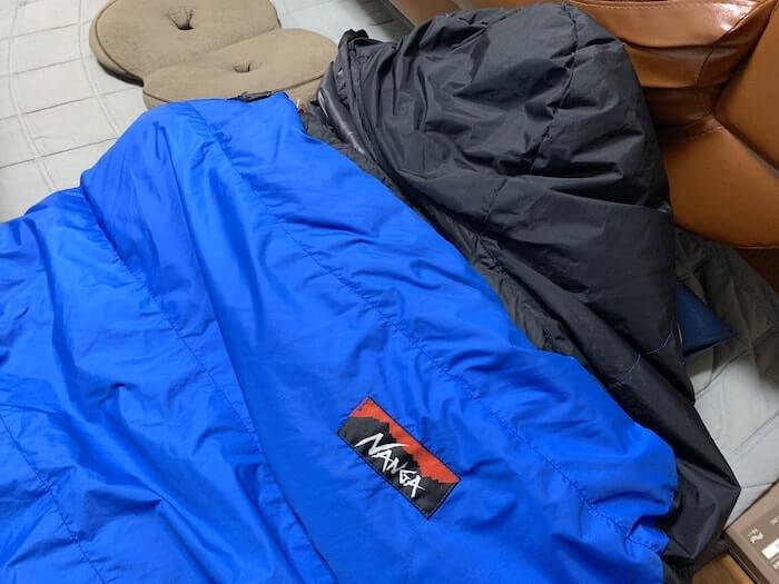 ブランケット代わりに寝袋