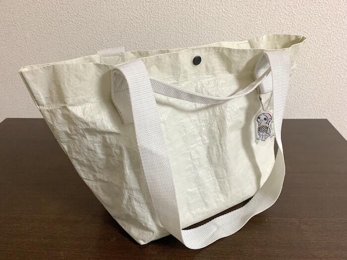 クライミングジムバッグ 無印良品の「ポリエチレンシート・ミニトートバッグ」