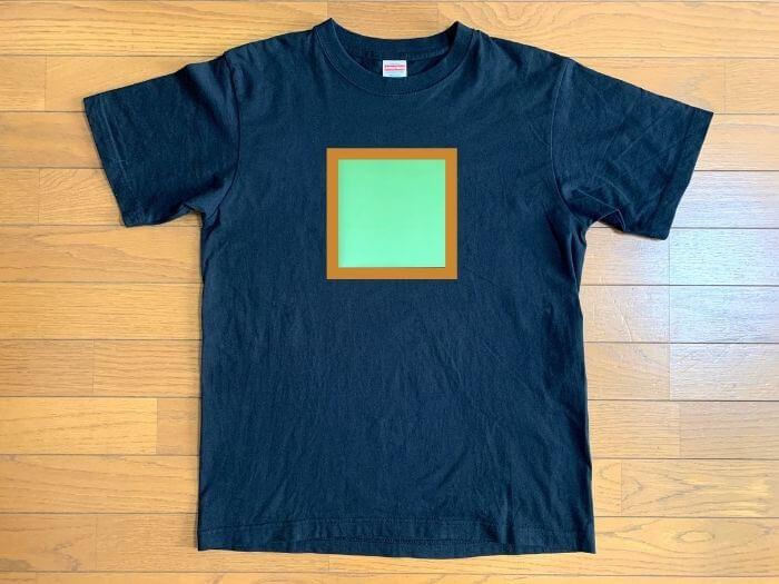 Tシャツくん スモールフレーム プリントサイズイメージ1