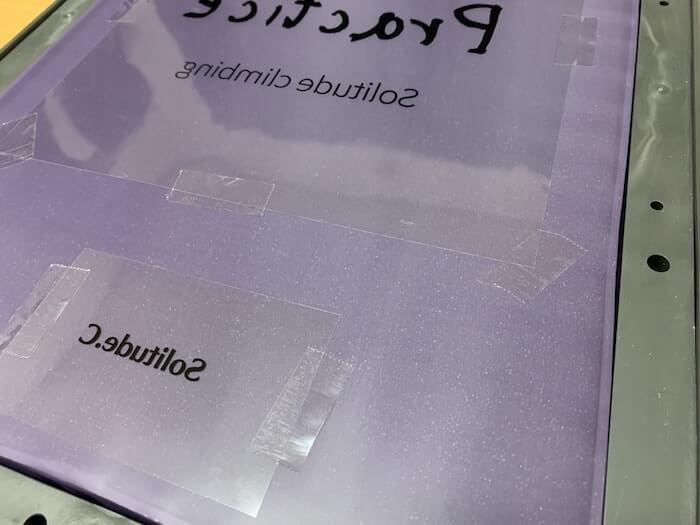 シルクスクリーン道具 セロテープ 使用シーン