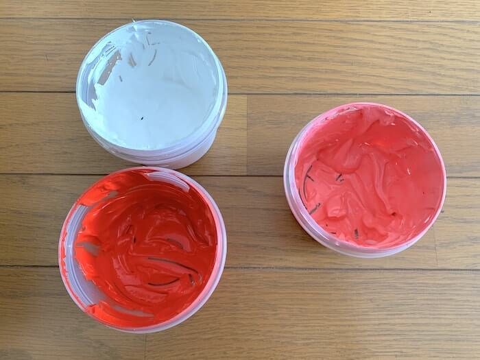 Tシャツくん 水性一般インク 赤白を混ぜる