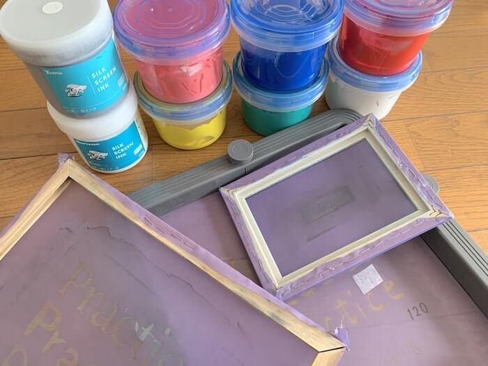 シルクスクリーンインクとメッシュの関連 画像
