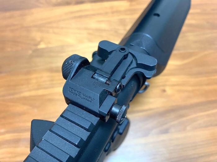 東京マルイ M4A1用フリップアップリアサイト 質感