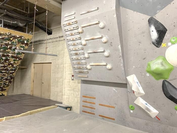 クライミングジム RISE トレーニングエリア キャンパスボード
