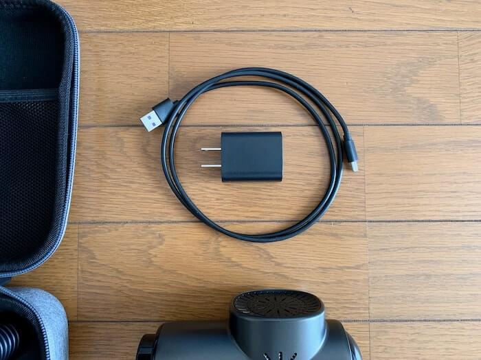 マイトレックス リバイブ 付属品 電源ケーブルとACアダプター